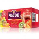 """ЧайОК """"Тропические фрукты"""". Чёрный 20 пакетиков."""
