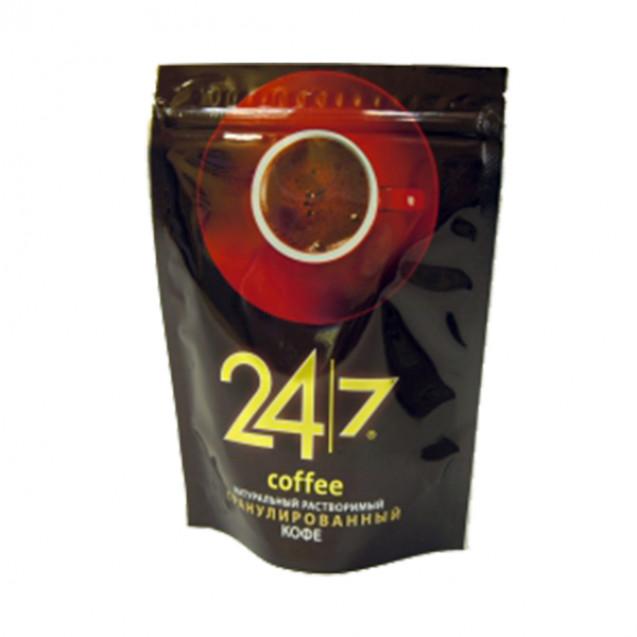"""Кофе """"24/7"""" растворимый гранулированный 150 г."""